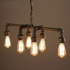Buy Edison Retro Loft Style Vintage Industrial Pendant Light Lamp Metal Water PipeLuminaire Lampara Colgantes with Lowest Price and Top Service!
