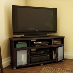 """South Shore City Life 47.25"""" Corner Chocolate TV Stand - 4219690 