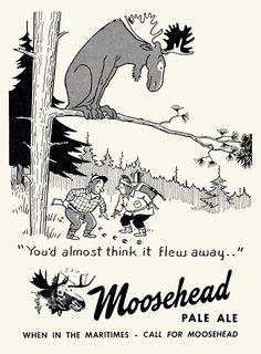 Vintage Moosehead Ad