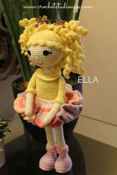 ELLA Doll - Crochet Doll Pattern This is a PDF Crochet Pattern - Download Instantly. If you are looking for something special to crochet to make it as a gift for your loved ones, ELLA Doll Pattern can be what you are looking for. ELLA Doll Pattern comes with clear instructions