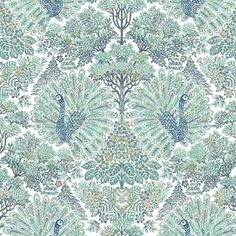 Tapet Classic 10 x m Påfågel Non-woven Zoom Call, William Morris, Textures Patterns, Floral Patterns, Designer Wallpaper, Pin Collection, Prints, Stuff To Buy, Home Decor