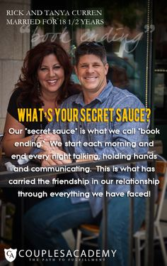 COUPLES ACADEMY ASKS, WHAT IS YOUR SECRET SAUCE? Love And Marriage, Holding Hands, Hold On, Friendship, The Secret, Relationship, Couples, Books, Libros