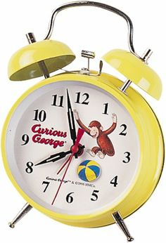 Curious George Themed Nursery Decor: Yellow Curious George Alarm Clock