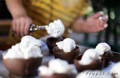 How to Make Chocolate Ice Cream Bowls