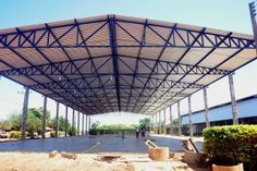 Cheap Pergola For Sale Info: 4362203705 Roof Truss Design, Balcony Railing Design, Window Grill Design, Truss Structure, Steel Structure Buildings, Steel Trusses, Roof Trusses, Pre Engineered Metal Buildings, Cattle Barn