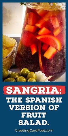 National Sangria Day is December 20. Check out our Jokes, Captions, Fun Facts, Quotes, and more. National Celebration Days, Sangria Blanca, National Bacon Day, Sangria Wine, Sangria Recipes, Fruit Drinks, Captions, Fun Facts, Brunch