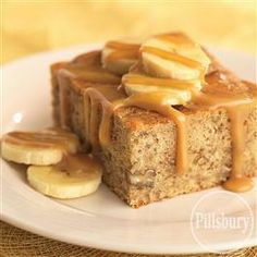 Banana Caramel #Cake from Pillsbury® Baking