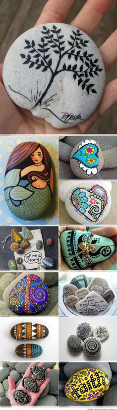 Great idea for stone art. great idea for stone art painting rocks for garden, rock painting ideas Pebble Painting, Pebble Art, Stone Painting, Bee Painting, Painting Flowers, Stone Crafts, Rock Crafts, Arts And Crafts, Painted Rocks