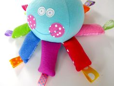 Octopus Softie Toy with Ribbons  PDF epattern by preciouspatterns, $3.99
