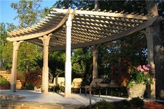 Curved Pergola  Pergola and Patio Cover  Outside Landscape Group, LLC  Alpharetta, GA