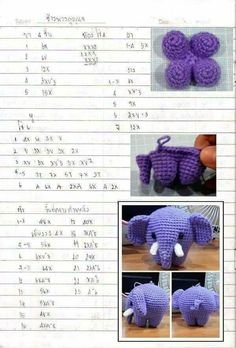 My eye has been drawn to crochet bunny patterns over and over lately- probably because it is starting to show signs of spring! Amigurumi Kawaii Bunny - FREE Crochet Pattern / Tutorial in Spanish - Salvabrani Ravelry: Jenny the Bunny, free Discover th Crochet Elephant, Elephant Pattern, Crochet Bear, Love Crochet, Diy Crochet, Crochet Bunny Pattern, Crochet Patterns Amigurumi, Crochet Dolls, Doll Patterns