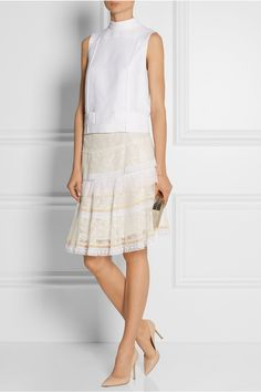 NINA RICCI Tiered lace skirt $1,808.82 http://www.net-a-porter.com/products/512338