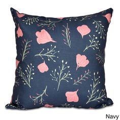 E by Design Floral Spring Blooms Print Pillow