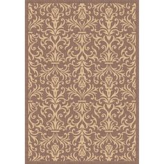 Dynamic Rugs Piazza French Indoor/Outdoor Area Rug - Brown - PZ91227423009