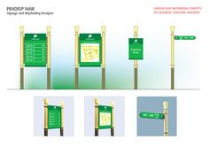Way finding Signage design done for DLF Alameda, Gurgaon, Haryana.