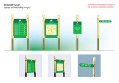 Way finding Signage design done for DLF Alameda, Gurgaon, Haryana.