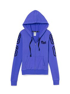 VS PINK Perfect Zip Hoodie-blue