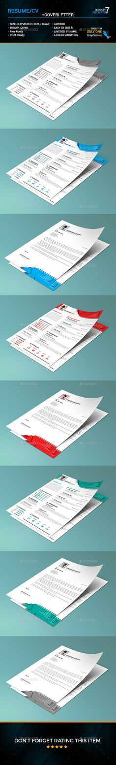Resume\/CV Fonts, Template and Modern - microsoft word 2010 resume template
