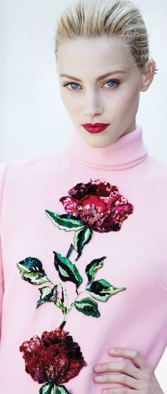 Dolce & Gabbana ~ Pink Rose Sweater ✿⊱╮