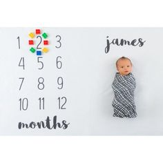 Personalized Monthly Baby Blanket