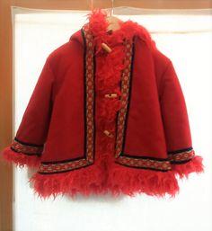 Manteau fille vintage rouge par Jeanneetlouis sur Etsy