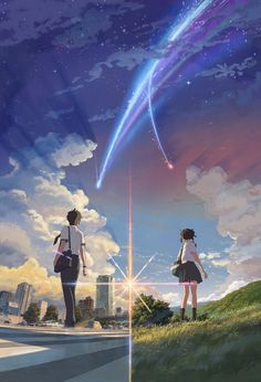 Kimi no Na wa (Your Name): as 25 imagens mais belas do anime! Your Name Movie, Your Name Anime, Film Anime, Manga Anime, Anime Art, Kimi No Na Wa Wallpaper, Your Name Wallpaper, Poster Anime, Image Manga
