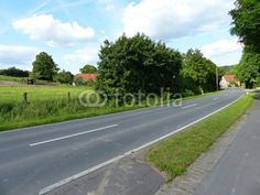 Landstraße am Teutoburger Wald von Helpup nach Währentrup in Ostwestfalen-Lippe