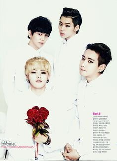 Block B // starting top left going clockwise Kyung, Zico, B-Bomb and U-Kwon