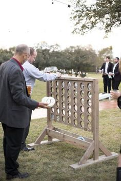 Featuring life-size connect four! Our Weddings - Silo and Oak Texas Wedding Yard Games! Featuring life-size connect four! Our Weddings - Silo and Oak Texas Lawn Games Wedding, Wedding Ceremony Decorations, Outdoor Wedding Games, Outdoor Yard Games, Wedding Backyard, Rustic Wedding Games, Southern Wedding Games, Games For Weddings, Unique Weddings