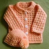 Crochet Baby Girl or Boy Sweater Jacket  - via @Craftsy