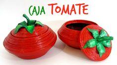 #DIY: Cajas tomate hechas con papel periódico. Tomato box.