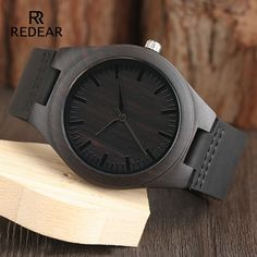 Casual Nature Wood Black Leather Band Strap Bamboo Men Women Quartz Wrist Watch - Wood Watch - Ideas of Wood Watch - Casual Nature Wood Black Leather Band Strap Bamboo Men Women Quartz Wrist Watch Price : Gifts For Fiance, Great Gifts For Dad, Perfect Gift For Dad, Dad Gifts, Casual Watches, Watches For Men, Men's Watches, Mens Watches Leather, Wooden Watch