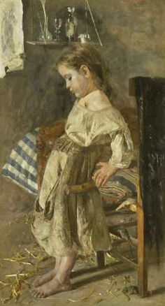 Het arme kind, Antonio Mancini, 1880 - 1897 - Rijksmuseum