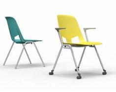 Besucherstuhl / Armlehnen / Rollen US American Seating