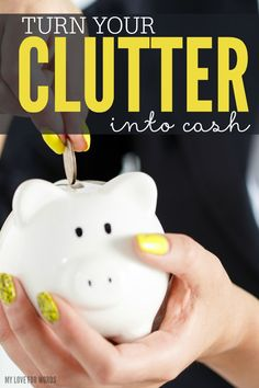 Overwhelmed by clutter and feeling guilty over wasting so much money? Read this now and find out how to turn your clutter into cash.
