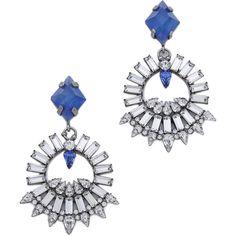 DANNIJO Avril Earrings ($250) ❤ liked on Polyvore featuring jewelry, earrings, sparkle jewelry, sparkly earrings, colorful stud earrings, anchor stud earrings and stud earrings