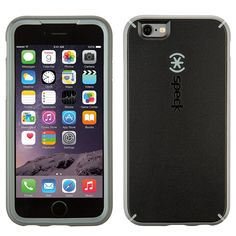 1af02cce4c52 Speck MightyShell Coque Dure Résistante pour iPhone 6 6S - Noir Gris Apple  Iphone