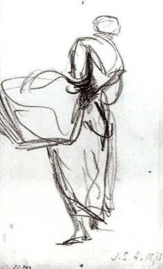 Sargent study for Oyster Gatherers of Cancale Gesture Drawing, Life Drawing, Drawing Sketches, Painting & Drawing, Chalk Drawings, Art Drawings, Figure Drawings, Figure Sketching, John Singer Sargent