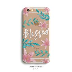 H142-BLESSED in BLOOM - Freehand - TPU CLEAR CASE
