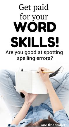 - 25 Online Proofreading Jobs for Beginners Make money online using your word skills. Learn how to become a proofreader and find online proofreading jobs for beginners. Make a full-time income from home with this lucrative online job. Work From Home Jobs, Make Money From Home, Way To Make Money, Marketing Program, Affiliate Marketing, Word Skills, Proofreader, Be Your Own Boss, Earn Money Online