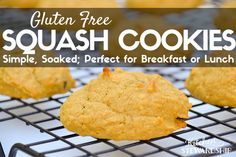 Whether you need a grab 'n' go breakfast or a lunch box treat, these gluten free squash cookies are a perfect option. Make a double batch and stock your freezer!