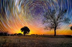 These marvels are the product of about 15 hours of shooting the stars in the Australian Outback.