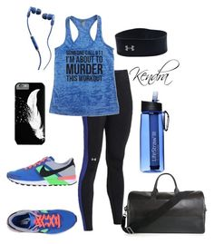 """Killing It"" by k1974johnson1117 ❤ liked on Polyvore featuring moda, Under Armour, NIKE e Skullcandy"