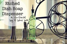 Etched Soap Bottle   Lil Blue Boo