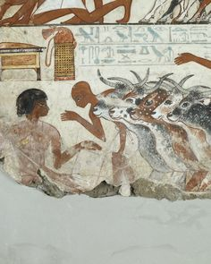 Tomb-chapel of Nebamun Thebes, Egypt Late 18th Dynasty, around 1350 BC (location Room 61 Bristish Museum)