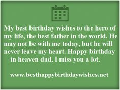 Happy Birthday Quotes in Heaven Dad