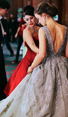 Elie Saab { open back done right. }