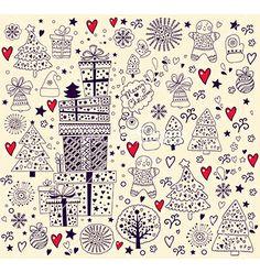 Hand doodle christmas elements vector 1094788 - by MoleskoStudio on VectorStock®