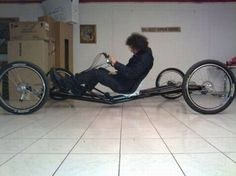 Guy Makes Porsche Car Out of Bicycle. You have to look at the series of pictures to really get this.  -  http://realitypod.com/2011/04/guy-makes-porsche-car-out-of-bicycle/#
