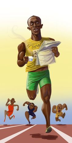 #UsainBolt#Caricature..FOLLOW THIS BOARD FOR GREAT CARICATURES OR ANY OF OUR OTHER CARICATURE BOARDS. WE HAVE A FEW SEPERATED BY THINGS LIKE ACTORS, MUSICIANS, POLITICS. SPORTS AND MORE...CHECK 'EM OUT!!